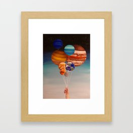 Inflated Planets Framed Art Print