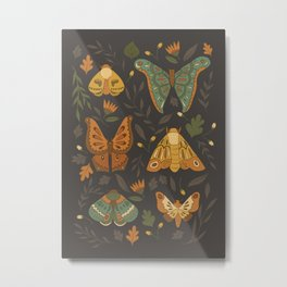 Autumn Moths Metal Print