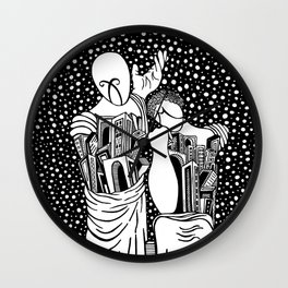 Chirico - Comedy and tragedy Wall Clock