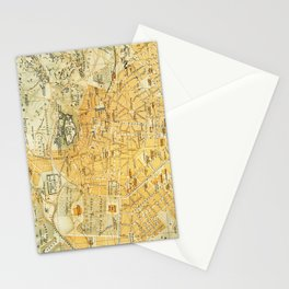 Vintage Map of Athens Greece (1894) Stationery Cards