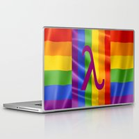 lesbian Laptop & iPad Skins featuring Sappho Lesbian Symbol by SwanniePhotoArt