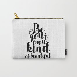 Happy Quote Home Decor Poster Typographic Print Inspirational Quote Wall Art Quote Life Quote Carry-All Pouch