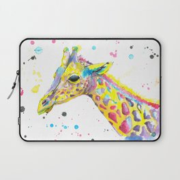 Giraffe - Watercolor Painting Laptop Sleeve