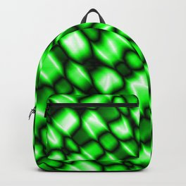 Remains of harmful vapors of the malachite mesh from dark cracks on the glass. Backpack