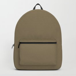 Dull Grey Brown | Solid Colour Backpack