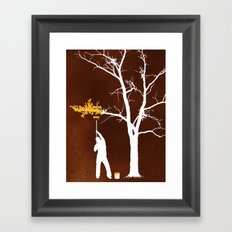 Relief Painting Framed Art Print