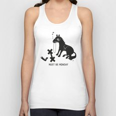 Must Be Monday, Horse Unisex Tank Top