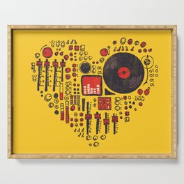 Music in every heartbeat Serving Tray