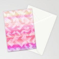 Geometric Sunset Stationery Cards