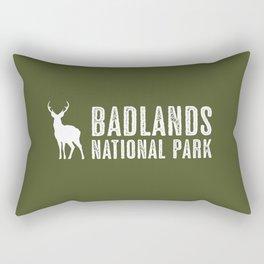Deer: Badlands National Park, South Dakota Rectangular Pillow
