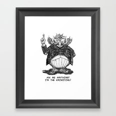 THE KNOWITOWL Framed Art Print