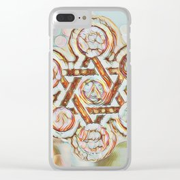 Rose Gold Star of David Clear iPhone Case