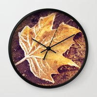 fitzgerald Wall Clocks featuring Autumn Frost by Elke Meister