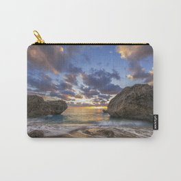 Kalamitsi beach at sunset long exposure Carry-All Pouch