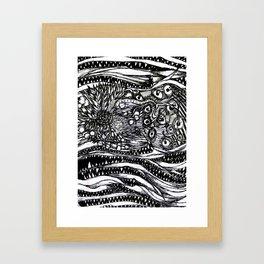 Flowers and Monsters #1 (Mini Print) Framed Art Print