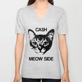 Cash Meow Side Unisex V-Neck