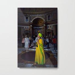 Woman in Yellow. Metal Print