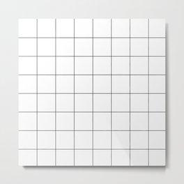 Criss cross blanck and white lines Metal Print