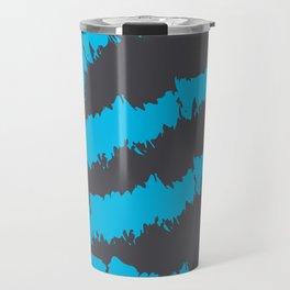 Blue Grey Pattern Travel Mug