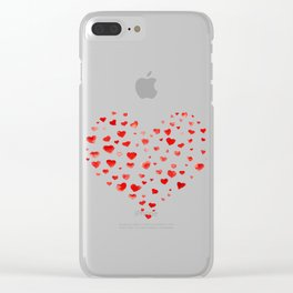 Be My Valentine! Clear iPhone Case