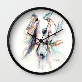 Fantasy white horse Wall Clock