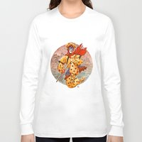 kit king Long Sleeve T-shirts featuring Monkey King by Kit Seaton