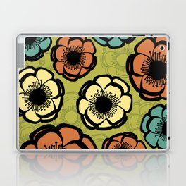 Bold Retro Flower Laptop & iPad Skin