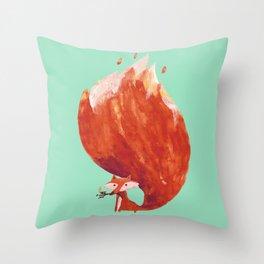 Kitsune (Fox of fire) Throw Pillow