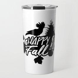 Happy Fall - Autumn - Nature - Bird Travel Mug