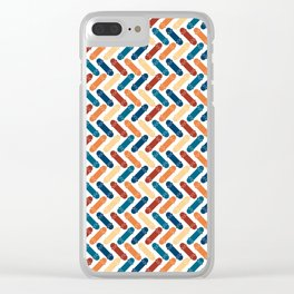 Skateboard Color Pattern Clear iPhone Case
