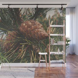 STOP AND SMELL THE PINE TREES Wall Mural
