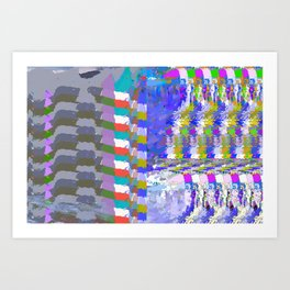 landscape collage #24 Art Print