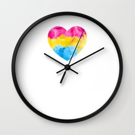 Pansexual Heart design LGBTQ Pride Gift Idea Wall Clock