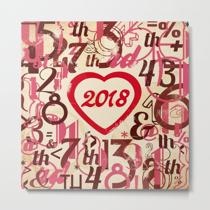 Heart 2018 She - Notebooks & more Metal Print