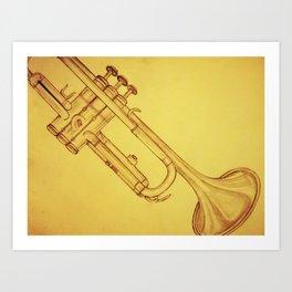 Trumpet Art Print