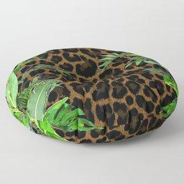 Jungle Leopard Floor Pillow