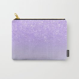 Modern purple sparkles ombre glitter lilac pastel color block Carry-All Pouch