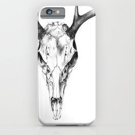 Deer Skull in Pencil iPhone Case