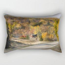 Fall colors along hwy 34 Rectangular Pillow