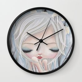 Silence of the Snowdrops Wall Clock