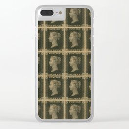 Penny Black Postage Clear iPhone Case