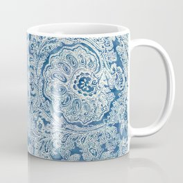 Blue Boho Paisley Pattern Coffee Mug