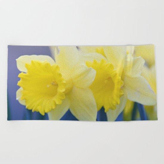 Yellow Narcissus #3 Beach Towel
