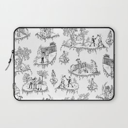 Zombie Toile - B&W Laptop Sleeve