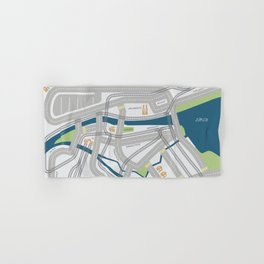 The Streets of Zurich Hand & Bath Towel