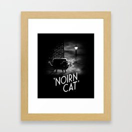 Noirn Cat Framed Art Print