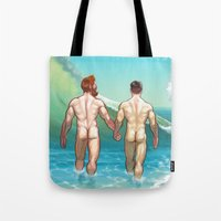 rush Tote Bags featuring Rush by Butch McLogic