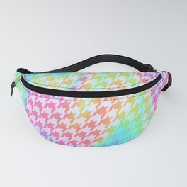 90s Rainbow Houndstooth Pattern Fanny Pack