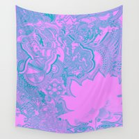 surfer Wall Tapestries featuring Lotus Surfer by Jack Graves III