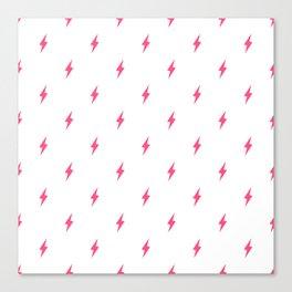 Lightning Bolt Pattern Pink Canvas Print